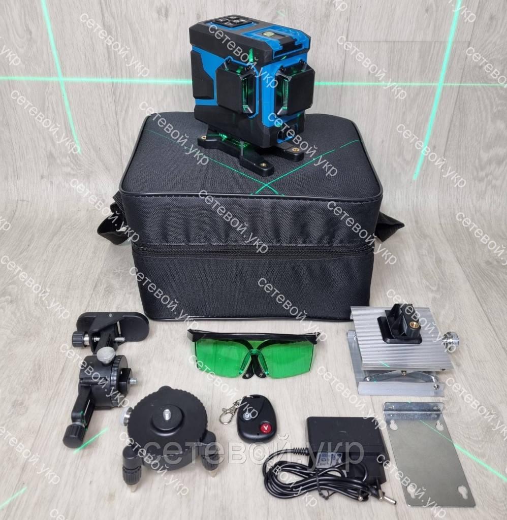 3D Лазерний нівелір KRAISSMANN 12 3D-LLG 25 RG професійний рівень 3д