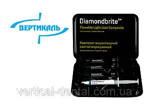 Композит микрогибридный рідкотекучий світлотвердіючий низької в'язкості DIAMONDBRITE з виділенням вільного фт