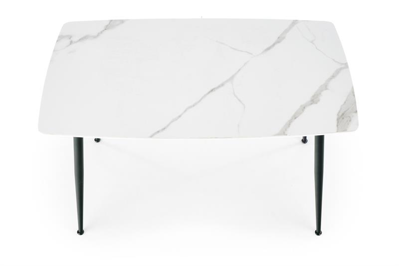 Стол кухонныйо обеденный на кухню столовый белый деревянный MARCO 120x70 (Halmar)