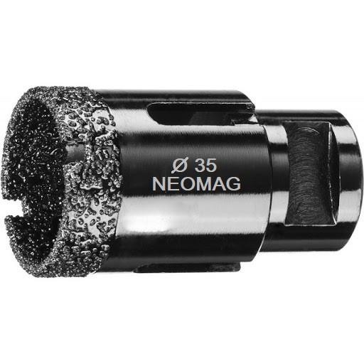 Алмазна коронка NEOMAG (DLT&9plitok) 35 мм вакуумного спікання з керамограніту на УШМ
