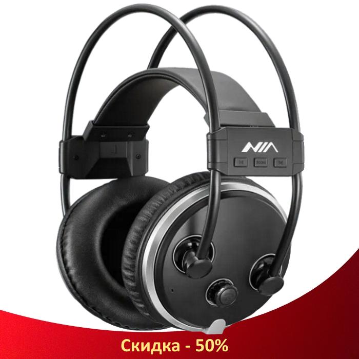 Навушники безпровідні S1000 Lux - Bluetooth-навушники гарнітура з мікрофоном і FM радіо + AUX