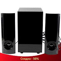 Колонки для компьютера PC 2.1 X6 - компьютерные колонки с сабвуфером и 3D светомузыкой, колонки для ноутбука, фото 3