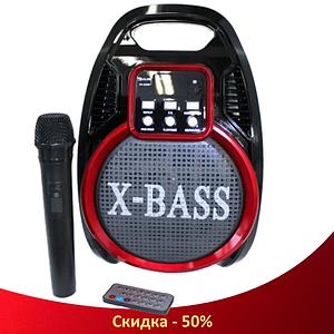 Колонка RX 920 з мікрофоном - портативна Bluetooth колонка з радіо і світломузикою