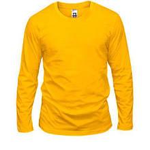 Жовтий чоловічий лонгслив
