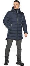 Темно-синя зимова практична куртка модель 49008