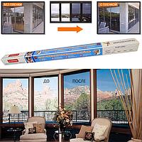 """Сонцезахисна плівка """"Комфортний будинок"""" для вікон, балконів, лоджій розмір 0,7х5,4 м (2 вікна), фото 1"""