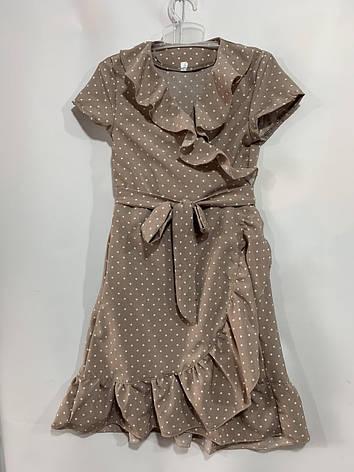 Летнее платье для девочки на запах р. 6-10 лет, фото 2
