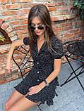 Красивое Платье Женское Летнее в горошек короткое, фото 2