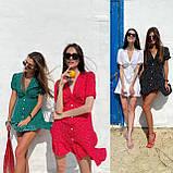Красивое Платье Женское Летнее в горошек короткое, фото 10