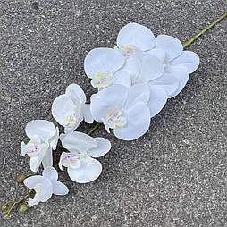 Орхидея ветка фаленопсис силикон белая 95 см