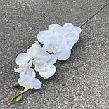 Орхидея ветка фаленопсис силикон белая 95 см, фото 2
