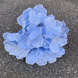Головка гортензии, 15 см голубая