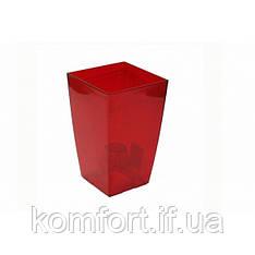 Квітковий горщик Lamela Финезия 125 Червоний прозорий