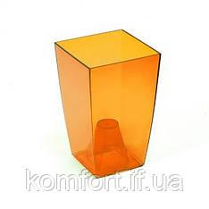 Цветочный горшок Lamela Финезия 125 Оранжевый прозрачный