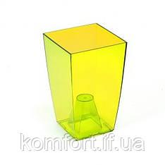 Квітковий горщик Lamela Финезия 125 Жовтий прозорий