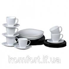 Столовий сервіз Luminarc Carine white and black N1500 30 предметів