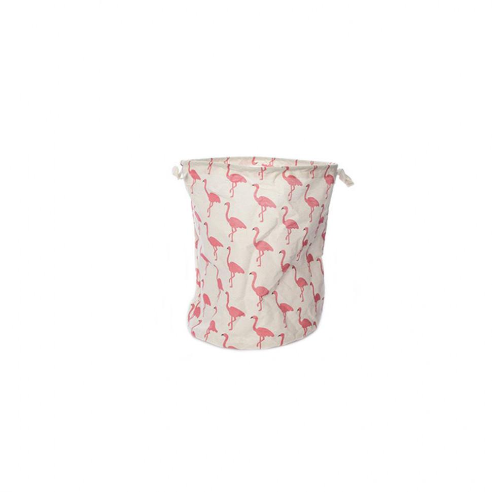 Корзина для игрушек MR 0610 с ручками  (Фламинго)