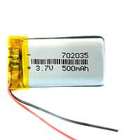Акумулятор 702035 Li-pol 3.7 В 500мАч для RC моделей MP3 MP4 DVR GPS