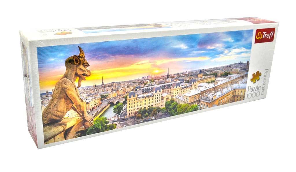 Пазли Панорама Вид з собору Нотр-Дам де Парі  (1000 елементів) Trefl