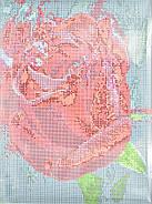Алмазна мозаїка Червона троянда 30х40 EF984, фото 3