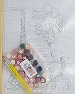 Картина по номерах Лілові фарби Парижу 40х50, фото 3