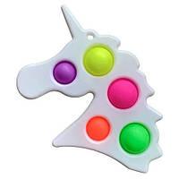 Сімпл Дімпл Єдиноріг іграшка антистрес Поп іт великого розміру, фото 1