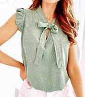 """Блузка жіноча полубатальная на зав'язках, розміри 50-56 (4кол) """"MILANI"""" купити недорого від прямого постачальника"""