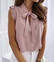 """Блузка жіноча молодіжна на зав'язках, розміри 42-48 (4кол) """"MILANI"""" недорого від прямого постачальника"""