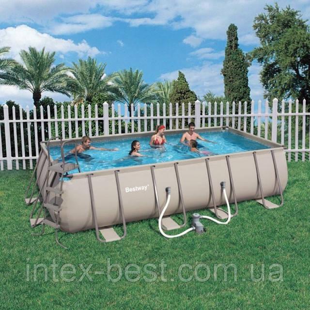 Bestway 56209 - прямоугольный каркасный бассейн 305x203x122 см