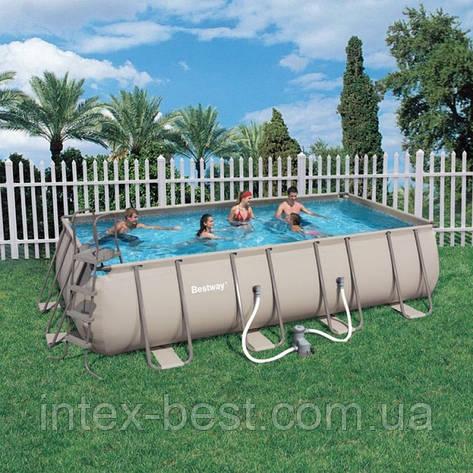 Bestway 56209 - прямоугольный каркасный бассейн 305x203x122 см, фото 2