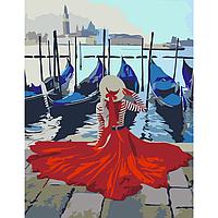 Набор-стандарт акриловая живопись по номерам Набережная Венеции 35х45см ROSA START~#~Набір-стандарт акриловий