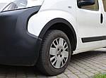 Накладки на арки (4 шт, чорні) 1 двері, ABS пластик для Peugeot Bipper (2008↗)