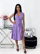 Платье женское софт принт с красивым декольте, фото 2