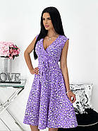 Платье женское софт принт с красивым декольте, фото 3