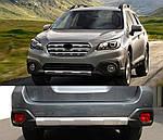 Передня і задня накладки V1 (2 шт) для Subaru Outback 2015↗ рр.