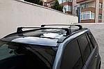Suzuki Grand Vitara 2005-2014 рр. Перемичка в штатні місця (2 шт) Сірий
