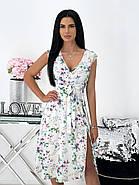 Элегантное легкое платье с разрезом, фото 4