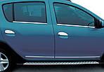 Накладки на ручки (4 шт, нерж.) Carmos - Турецкая сталь для Dacia Logan MCV 2013↗ гг.