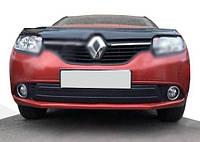 Зимняя нижняя накладка на решетку Глянцевая для Renault Logan III 2013↗ гг.
