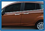 Накладки на ручки (4 шт, нерж.) Carmos - Турецкая сталь для Ford B-Max 2012↗ гг.