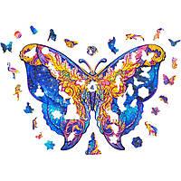 "Дерев'яні фігурні пазли ""Wooden jigsaw puzzle of Galactic Butterfly"" А5, дерев'яний пазл Метелик (NS), фото 1"