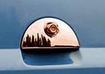 Накладка на задню ручку (нерж.) Carmos - Турецька сталь для Opel Meriva (2002-2010)