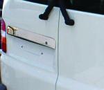 Планка над номером для распашных дверей (нерж) OmsaLine - Итальянская нержавейка для Volkswagen T5 Transporter