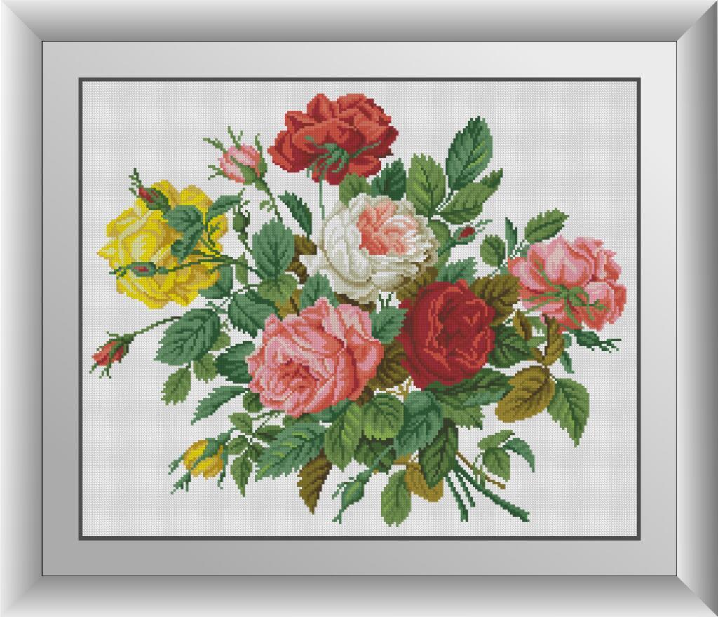 30794 Романтичні троянди. Набір мозаїки алмазній