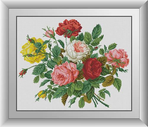 30794 Романтичні троянди. Набір мозаїки алмазній, фото 2
