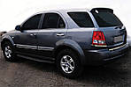 Кромка багажника (нерж.) Carmos - Турецька сталь для Kia Sorento 2002-2009 рр.