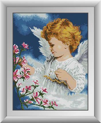 30378 Набір алмазної мозаїки Ангел з квітами, фото 2
