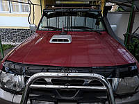Дефлектор капота (VIP) для Nissan Patrol Y61 1997-2011 гг., фото 1
