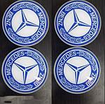 Колпачки в титановые диски 55мм (4 шт) для Mercedes C-сlass W205 2014-2021 гг.