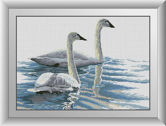 30491 Набір алмазної мозаїки Витончені лебеді, фото 2